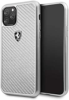 Ferrari Heritage Real Carbon Hard Case for Apple iPhone 11 Pro - Silver