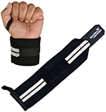 WRIST SUPPORT WRAPS GYM WEIGHT LIFTING BODY BUILDING BANDAGE STRAPS