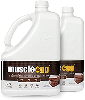 MuscleEgg Chocolate Liquid Egg Whites Protein - 2 Gallons