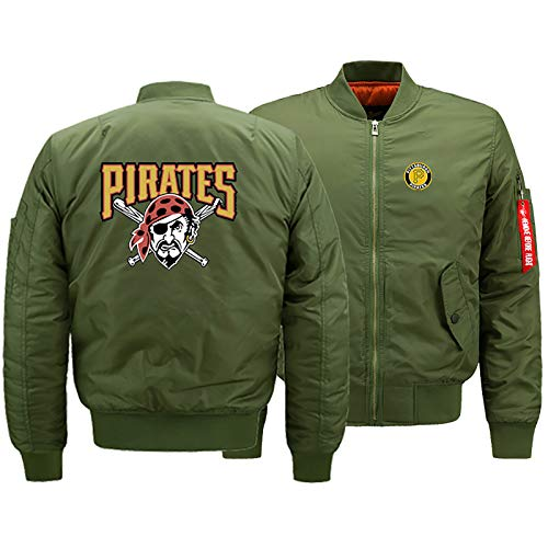 GMRZ Unisex 3D Sweatjacke, MLB Mit Pittsburgh Pirates Logo Design Major League Baseball Team Sport Jacke Fans Jerseys Herren Cardigan Winter Sportswear,D,M