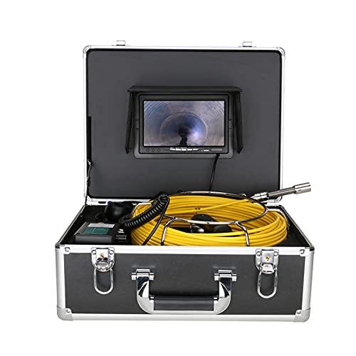 HBHYQ Cámara de Video de inspección de tubería inalámbrica de 7 Pulgadas de 50 m, 17 mm de Drenaje de alcantarillado endoscopio Industrial Android/iOS,50M