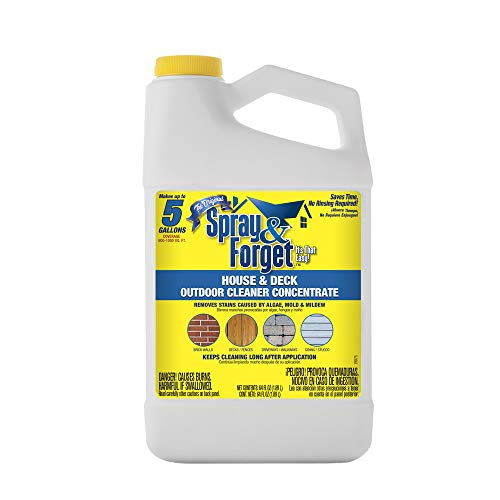 Spray & Forget SFDCH04 House & Deck Outdoor Cleaner Concentrate, 64 oz, White