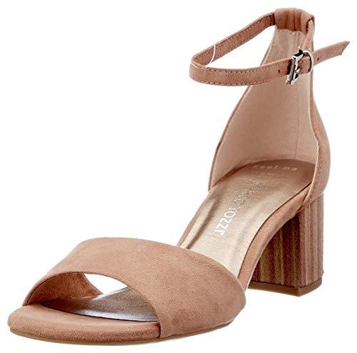 Marco Tozzi Damen 2-2-28316-26 Sandale mit Absatz, Nude Comb, 38 EU