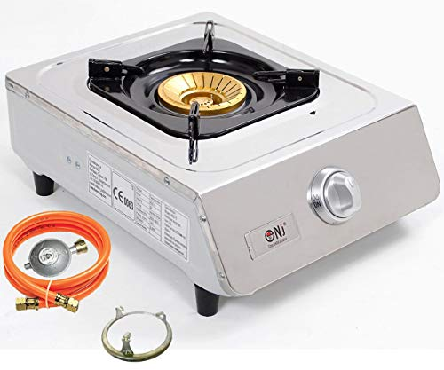 NJ NSD-11 Portable Gas Stove Single Burner Cooker Indoor LPG Cooktop FFD Stainless Steel WOK 3.8kW