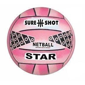 sure shot star netball pink