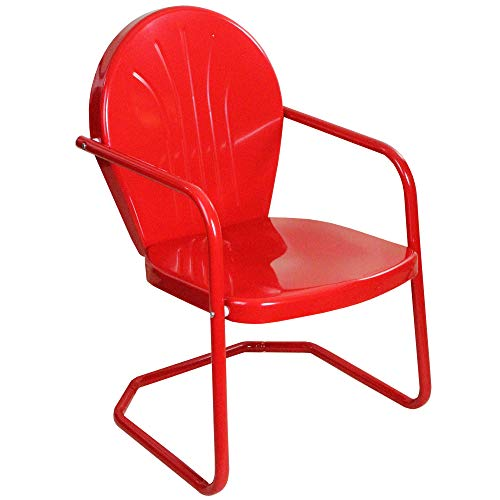 Northlight 34-Inch Outdoor Retro Tulip Armchair, Red