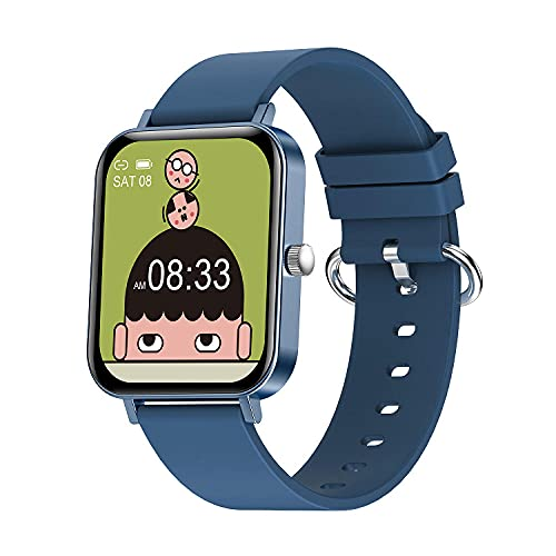 1.69 HD Large Screen Information Reminds The Dynamic Heart Rate 200mAh Battery Capacity Smart Watch-Blue