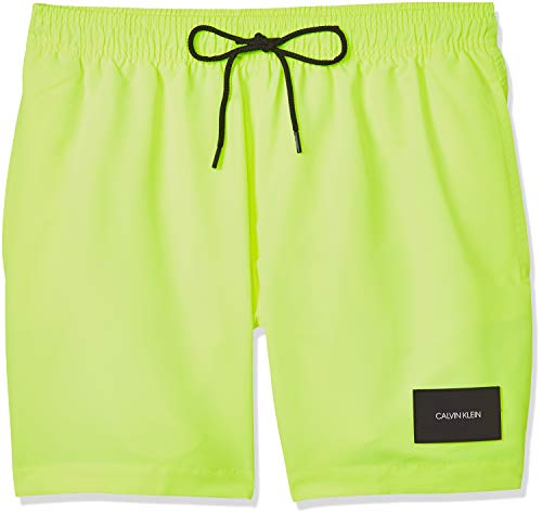 Calvin Klein Herren Medium Drawstring Badehose, Gelb (Safety Yellow ZAA), X-Large