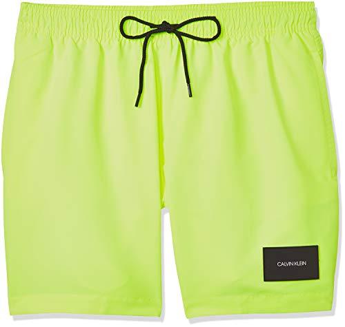 Calvin Klein Medium Drawstring Bañador, Amarillo (Safety Yellow ZAA), M para Hombre