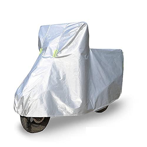 Yajun Cubierta de Motocicleta Impermeable Protección Resistente a la Lluvia Funda para Bicicletas a Prueba de Polvo con Borde Elástico y Tiras Reflectantes,XXL(2.5M)