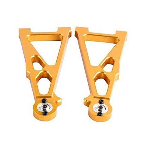 V-MAXZONE Braccio di sospensione anteriore inferiore in alluminio durevole A-Brms per RC E10 1/10 per Himoto elettrico E10MT E10MTL Bowie camion accessori auto (colore : bianco) (colore : giallo)