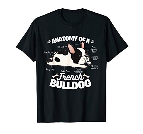 French Bulldog Graphic . Anatomy Of A French Bulldog T-Shirt