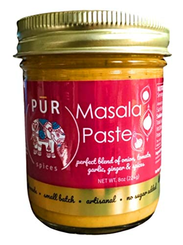 Masala Paste and Spices for Indian Cooking   Garam Masala   No sugar Added and Free of Additives and Preservatives I Bhuna Masala and Curry Paste I 8oz single