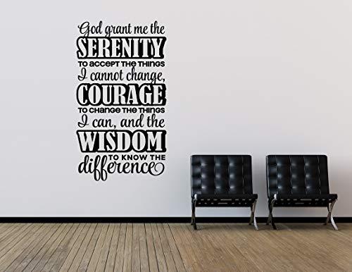 Promini God verleent mij de sereniteit om de dingen die ik niet kan veranderen Serenity gebed christelijke Decor slaapkamer Decor muur Decal Wall Art Wall Decor vele kleuren beschikbaar 12