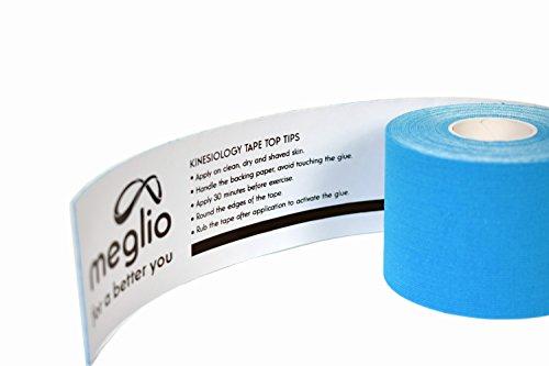 Meglio vorgeschnittenes Kinesiologie Tape 5cm x 5m Rolle – Tapeverband – Sporttape für Muskeln – 100% Baumwolle - 2