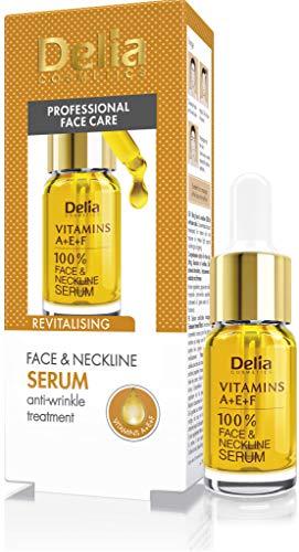 Delia–vitamine A + e + F anti-winkle e rivitalizzante trattamento intensivo per tutti i tipi di pelle–100% di siero viso e collo–senza parabeni