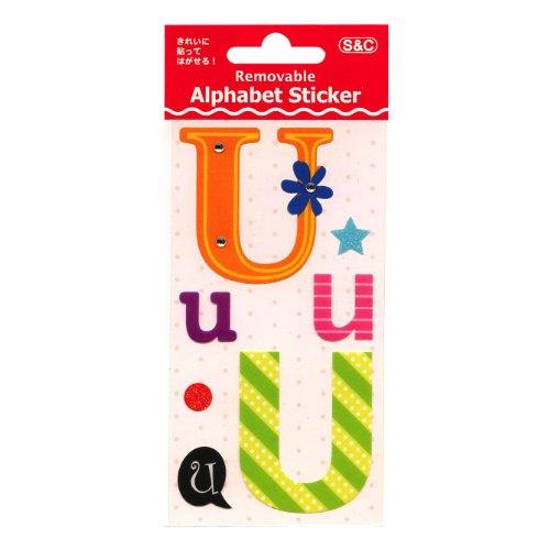 リムーバブル アルファベット ステッカー/シール【U】 RDA20