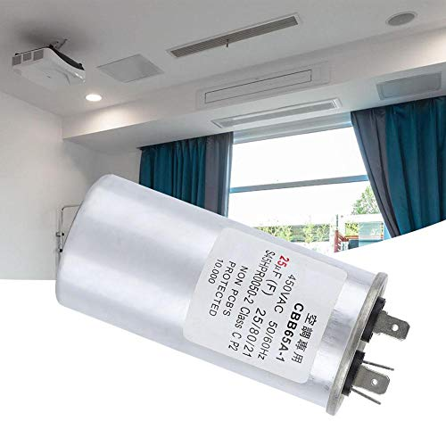 Airconditioningcondensator, 25UF 450V Airconditioningcondensator 25UF Airconditioningcondensator Compressorcondensator 25UF Explosieveilige condensator, gemaakt van zink-aluminium membraan