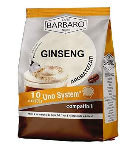 GINSENG SOLUBILE BARBARO - 10 CAPSULE COMPATIBILI UNO SYSTEM da 7g