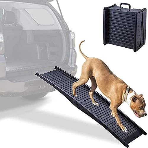 NXL Rampa De Escalera De Perro Ajustable En Altura para Cama Rampa De Gato para Coche Rampa De Mascota De Perro Grande con Alfombra Antideslizante Escalera De para Mascotas