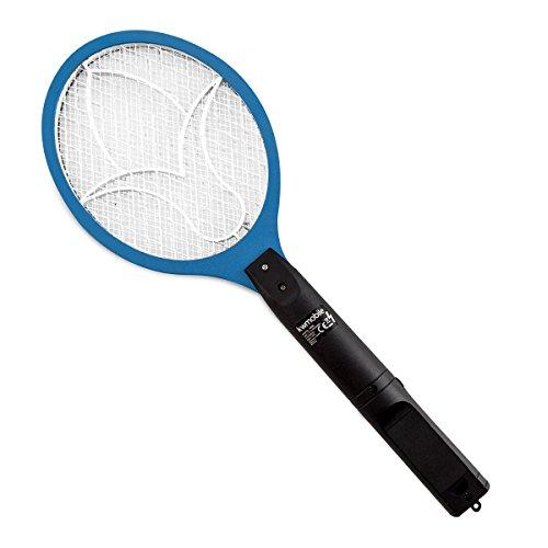 kwmobile Elektrische Fliegenklatsche in Blau - Insektenvernichter für Mücken, Fliegen und anderen Insekten