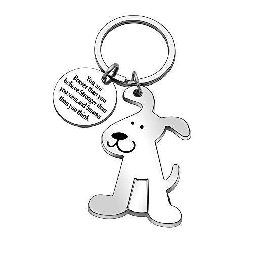 Inspirational Gifts Keyring for Women Men Dog Metal Key Ring Keychain Christmas Thanksgiving Birthday Gifts
