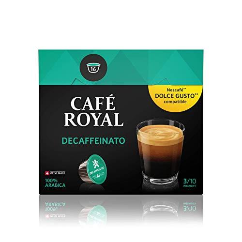 Café Royal Decaffeinato 48 Nescafé Dolce Gusto kompatible Kapseln (Intensität 3/10) 3er Pack (3 x 16 Kaffeekapseln)