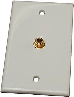 RV Designer T141, Interior TV Wall Plate Connector, White