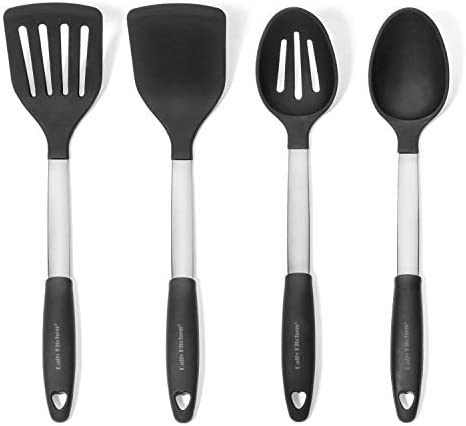 Daily Kitchen Utensil Set Silicone and Stainless Steel Heat Resistant Cooking Utensils for Non product image