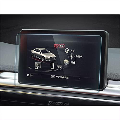 para Audi A4 B9 S4 2016 2017-2019, Protector de Pantalla de navegación GPS para Coche de Vidrio Templado, Pantalla táctil LCD, Accesorios Adhesivos para película