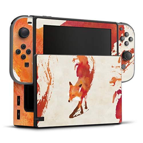 DeinDesign Skin kompatibel mit Nintendo Switch Folie Sticker Fuchs Graphic