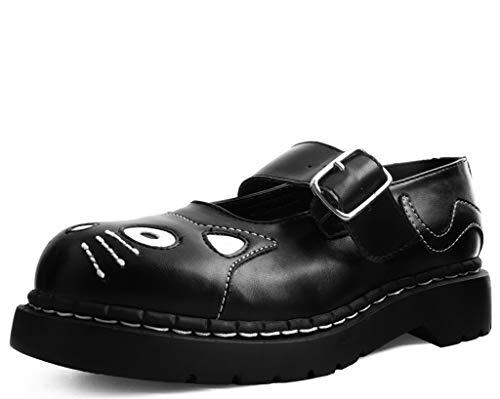 T.U.K. Shoes Frauen Schwarze Tukskin Kitty Vegan Mary Jane EU37 / UKW4