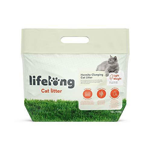 Marca Amazon - Lifelong - Arena de hormita para gatos aglomerante ligera 16L/9.6Kg