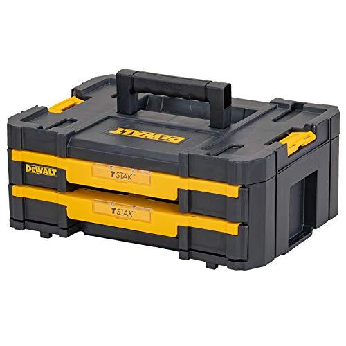 Dewalt DWST1-70706 T STAK-Box IV Doppelschubladen-Werkzeugbox (mit herausnehmbaren Innenteilern)