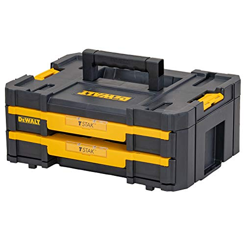 DeWalt DWST1-70706 T-Stak IV Tool Storage Box with 2-Shallow Drawers