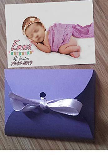 Imanes personalizados con la foto para bautizos 10 unidades 6x7 cm