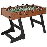 SHUJINGNCE Futbolín Plegable marrón 121x61x80 cm Dimensiones: 121 x 61 x 80 cm