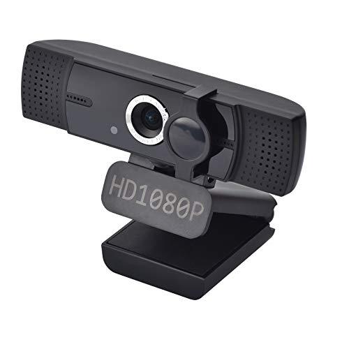 Webcam USB 2.0, 1080P HD, webcam, dos micrófonos omnidireccionales de cancelación de ruido estéreo, para transmisión en directo, videollamadas, conferencias, clases en línea, juegos