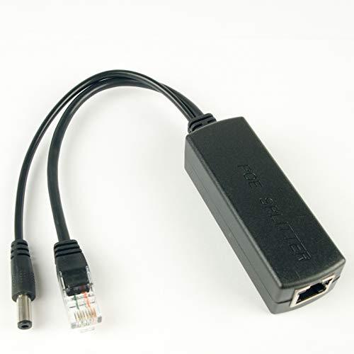 DSLRKIT Active PoE Splitter Power Over Ethernet 48V to 12V 2A for IEEE802.3at 24Watt