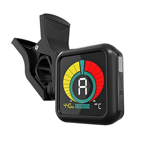 KLIQ UberTuner - Professional Clip-On Tuner for All Instruments (multi-key modes) - with Guitar, Ukulele, Violin, Bass & Chromatic Tuning Modes (also for Mandolin and Banjo)