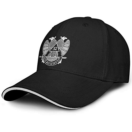 QILI 32nd-Degree-Double-Headed-Eagle-Scottish-Rite Men Women Fashion Sandwich Baseball Cap Cool Sports Hat