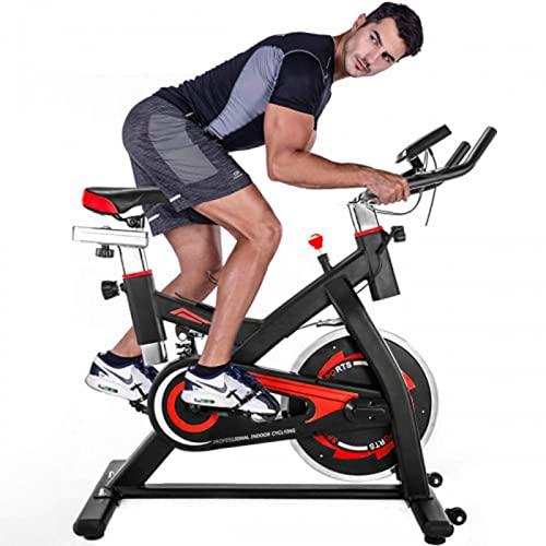 Mapeieet Bicicleta estática estacionaria con Capacidad de Peso de 300 LB - Bicicleta de Ciclismo para Interiores con cómodo cojín para el Asiento, Estante para Botellas de Agua y Monitor LCD