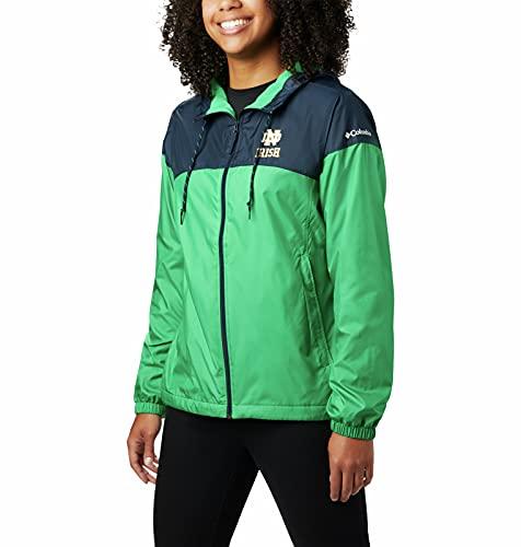 Columbia Women's Flash Forward Lined Jacket, Nd - Navy/Fuse Green, Medium