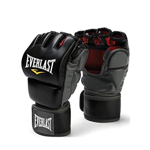 Everlast Train Advanced MMA 7-Ounce Grappling/Training Gloves (Black, Small/Medium)