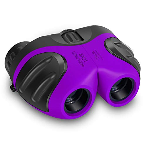 meet sun 3-8 Years Old Girl, Compact Binoculars for Kids Yard Toys, Best Gift for 4-10 Year Girls to Watching Birds, Telescope Boys Gifts 10 Years Old to Wildife(Purple)