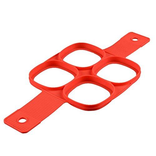 advancethy Molde de silicona para panqueques para hacer panqueques (4 unidades)