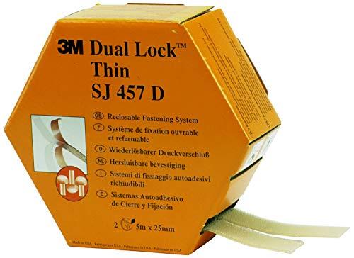 3M Dual Lock SJ457D Système Ouvrable et Refermable 25,4 mm x 5 m Translucide