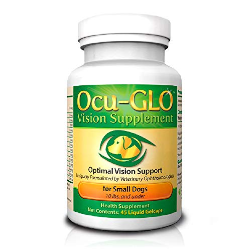 Ocu-GLO Vision Supplement for Small Dogs by Animal Necessity with Lutein, Omega-3 Fatty Acids, Grape Seed Extract and Antioxidants to Promote Eye Health in Dogs, 45ct Liquid Gelcaps