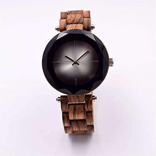 SYLL Reloj de Madera para Mujer Relojes de Moda Hechos a Mano de Madera Natural Reloj de Pulsera de Cuarzo para Mujeres Señoras
