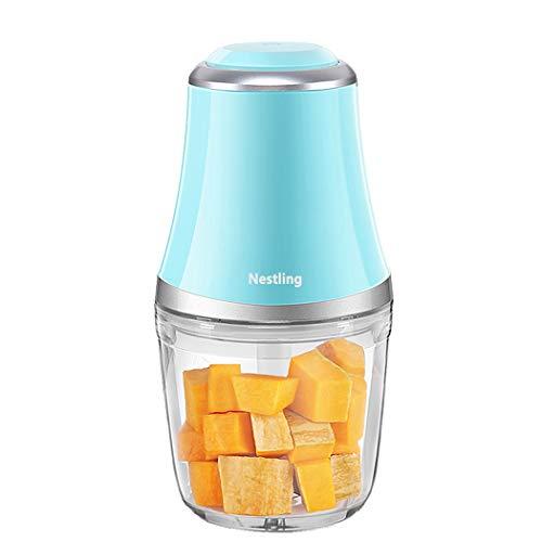 Nestling 280W Minipicadoras Eléctrico Picador, 600 ml Procesador de Alimentos para Picar Vegetales, Triturador de 3 Cuchillas Afiladas para Carne, Frutas y Nueces (Azul)